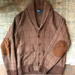 Polo by Ralph Lauren Wool Cardigan w/ Elbow Patch